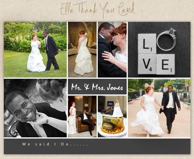 Simply Angelic Photography Wedding Card How sweet is this Ella Thank You