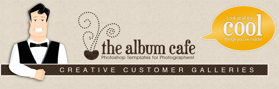 The Album Cafe | Photoshop Templates!