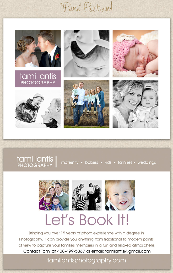 The Album Cafe Photoshop Templates Tami Lantis Photography - Photography postcard template